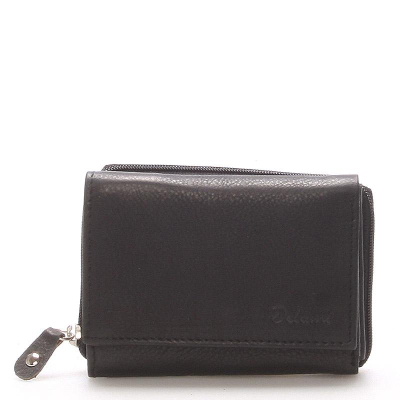 Kožená černá peněženka - Delami 8230