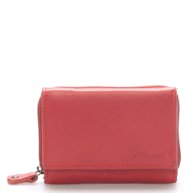 Kožená červená peněženka - Delami 8230