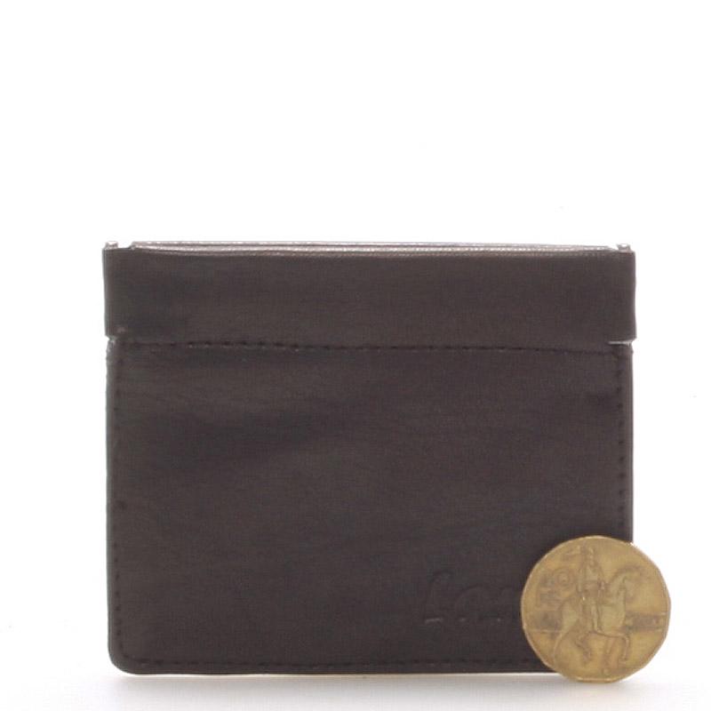 Kožená peněženka na mince černá - Delami MIMI