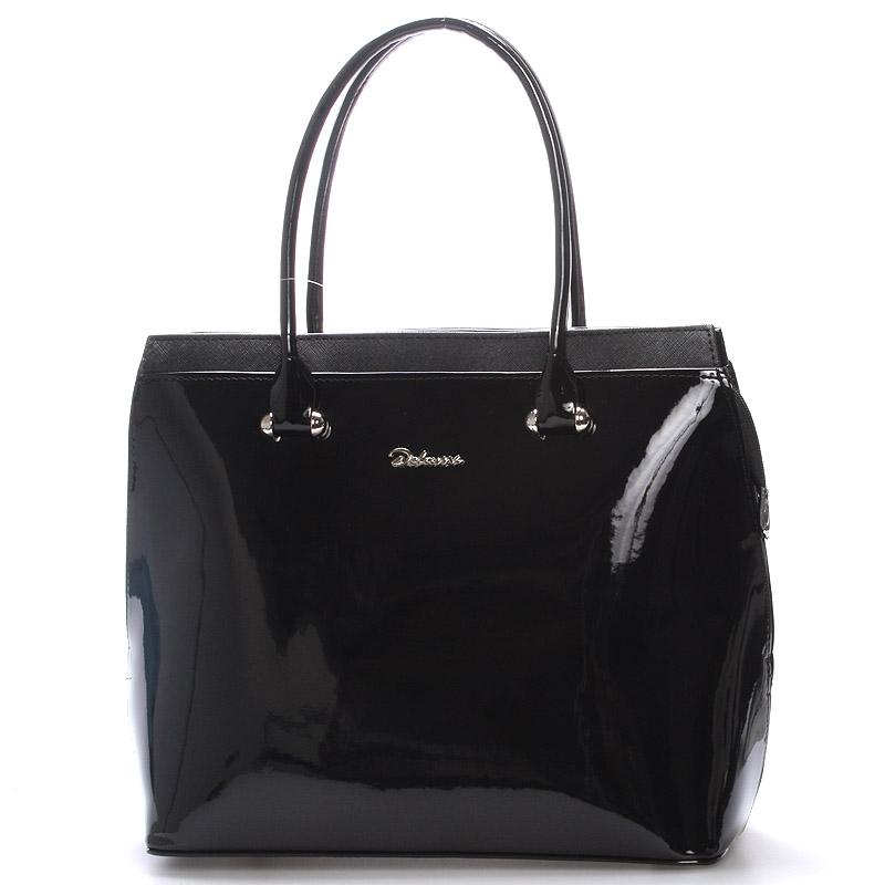 Dámská kabelka černá lakovaná - Delami Tatiana