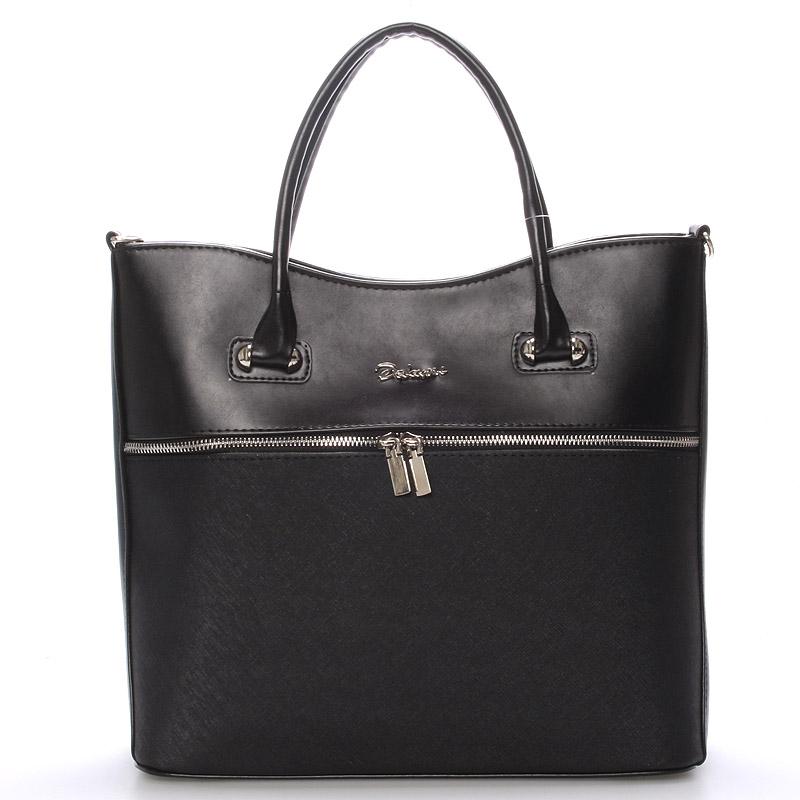 Luxusní dámská kabelka černá matná  - Delami Veronica