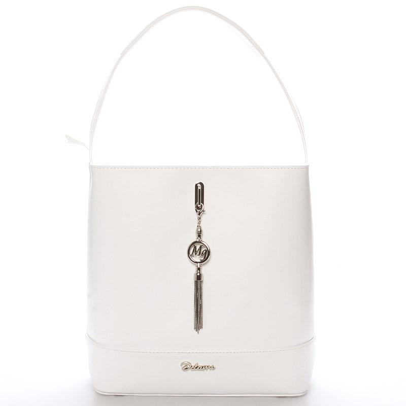 Dámská elegantní kabelka přes rameno bílá - Delami Celine