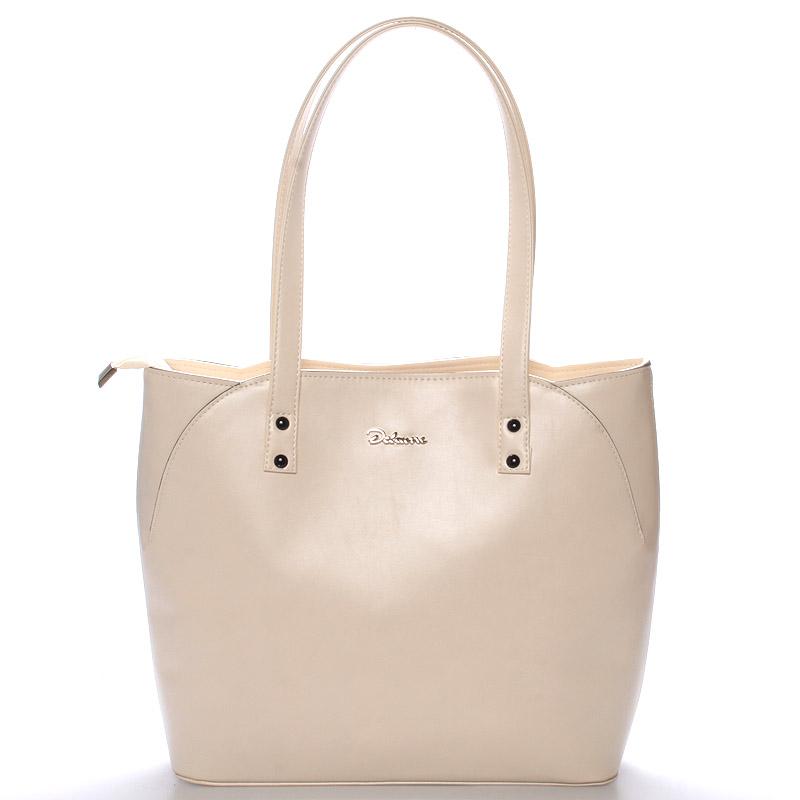 Dámská elegantní kabelka přes rameno béžová - Delami Roesia