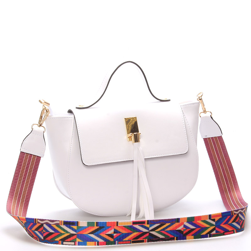 Moderní crossbody kabelka bílá - Delami Angilia