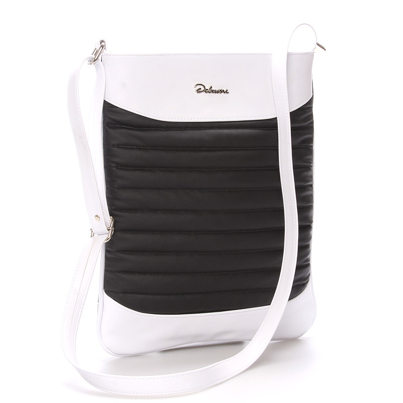 Trendy crossbody kabelka černo bílá - Delami Clara