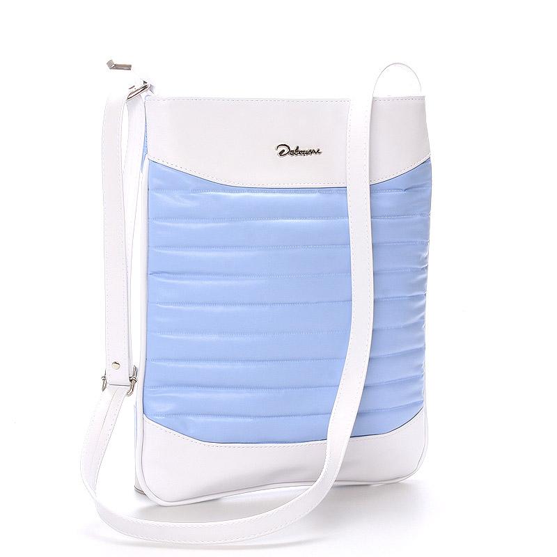 Trendy crossbody kabelka modro bílá - Delami Clara