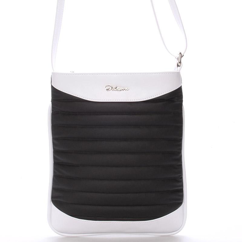 Menší crossbody kabelka černo bílá - Delami Jineen