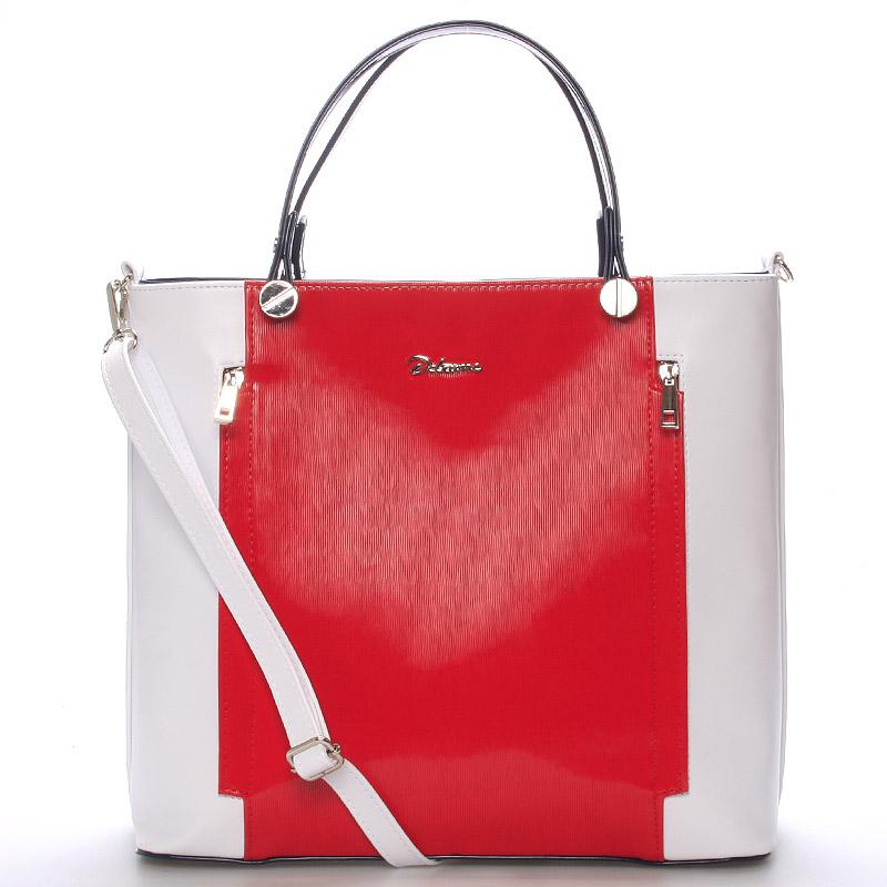 Originální dámská kabelka bílo červeno modrá - Delami Celesse