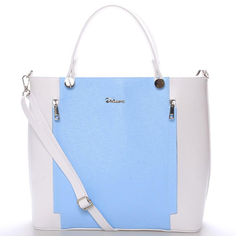 Originální dámská kabelka bílo modrá - Delami Celesse