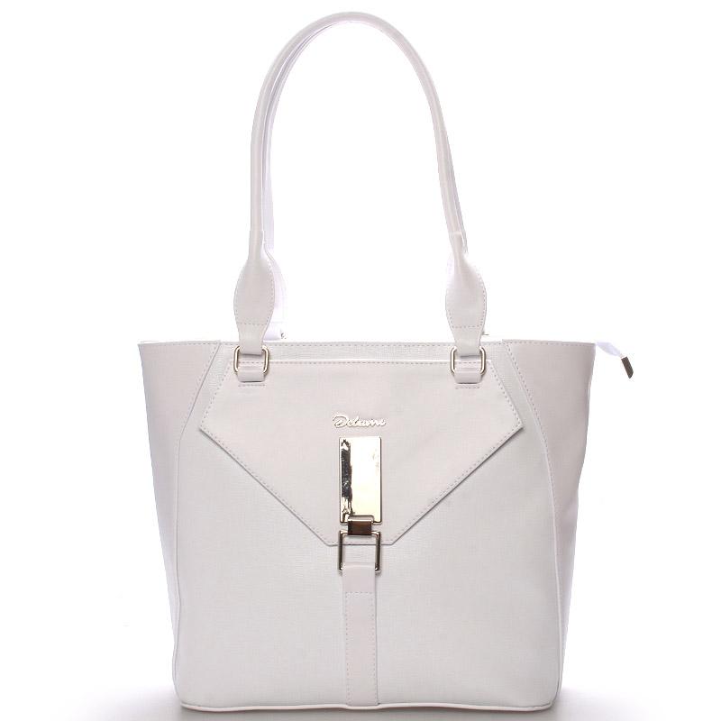 Dámská luxusní kabelka přes rameno bílá - Delami Albina