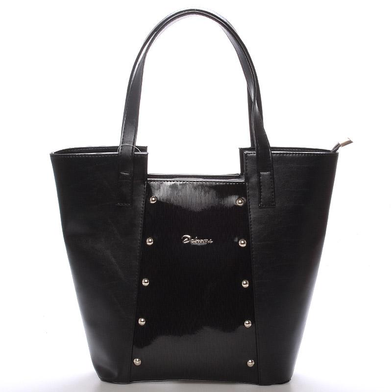 Dámská kabelka přes rameno černá s cvočky - Delami Annie