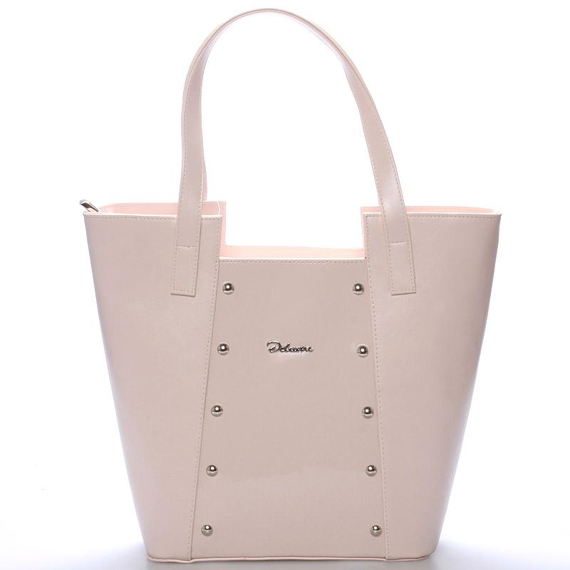 Dámská kabelka přes rameno růžová s cvočky - Delami Annie