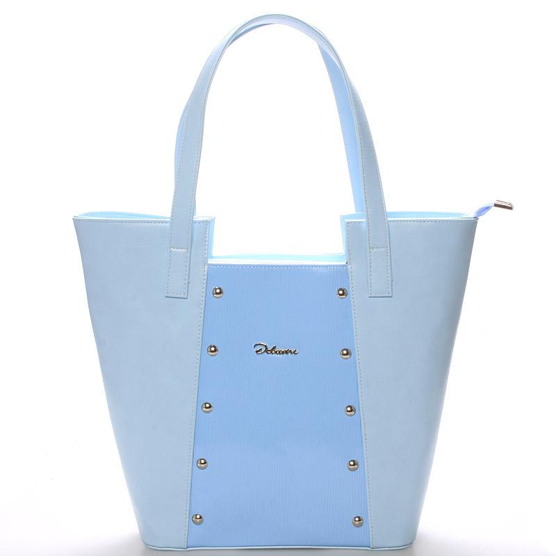 Dámská kabelka přes rameno modrá s cvočky - Delami Annie
