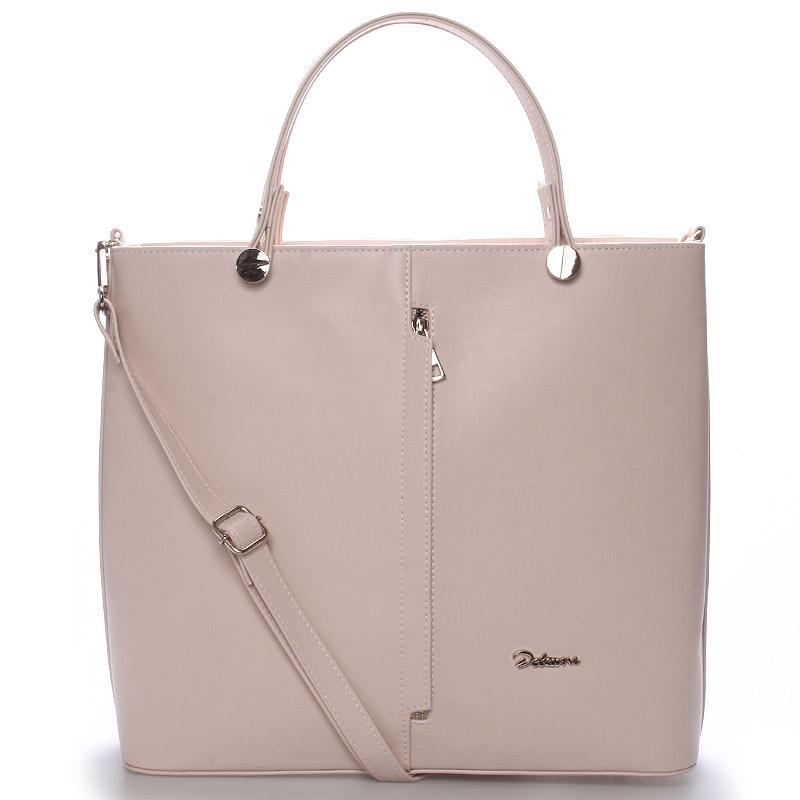 Luxusní růžová dámská kabelka - Delami Catherine