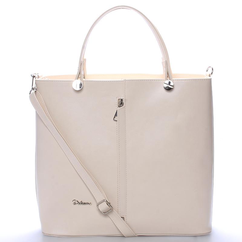 Luxusní béžová dámská kabelka - Delami Catherine