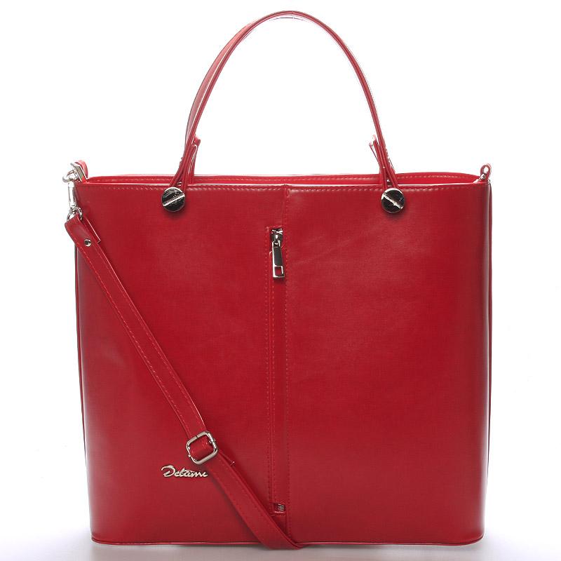 Luxusní červená dámská kabelka - Delami Catherine