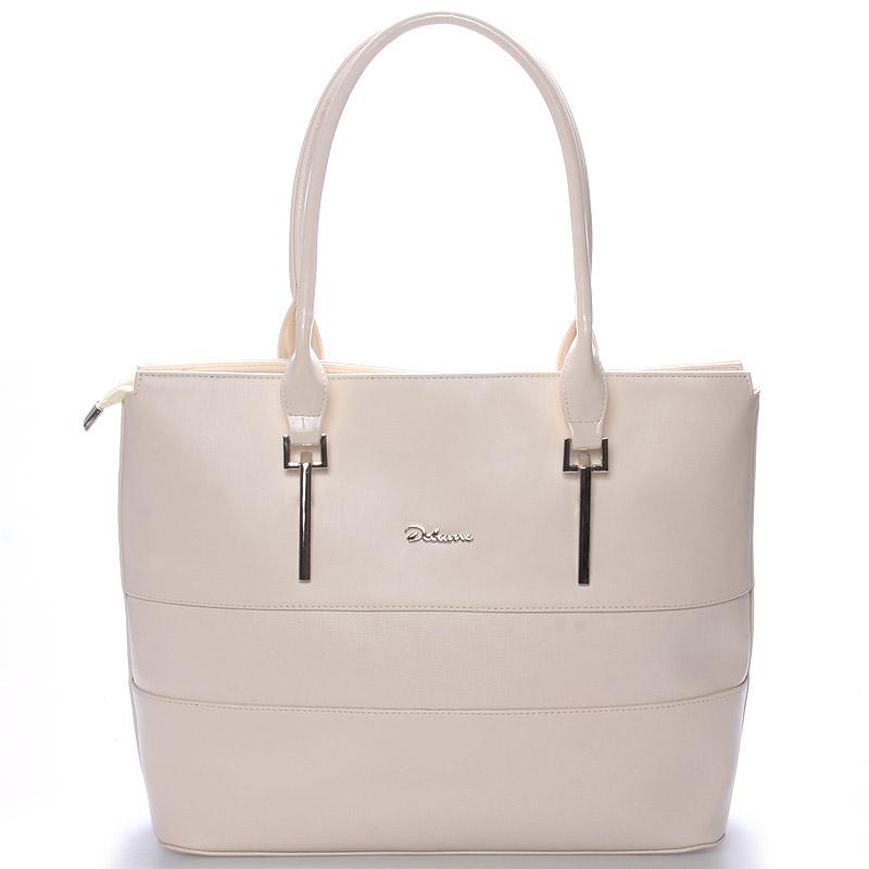 Dámská luxusní kabelka přes rameno béžová - Delami Denise