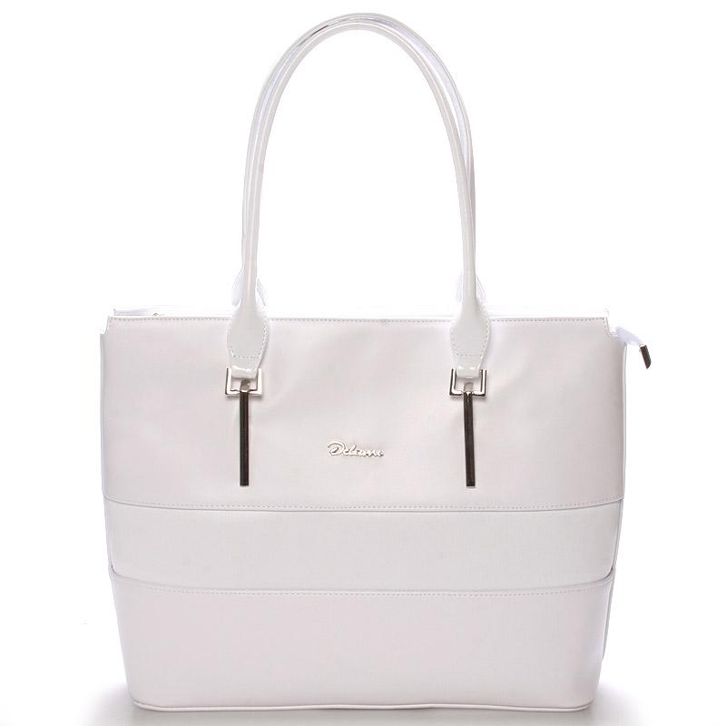 Dámská luxusní kabelka přes rameno bílá - Delami Denise