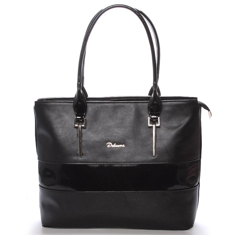 Dámská luxusní kabelka přes rameno černá - Delami Denise