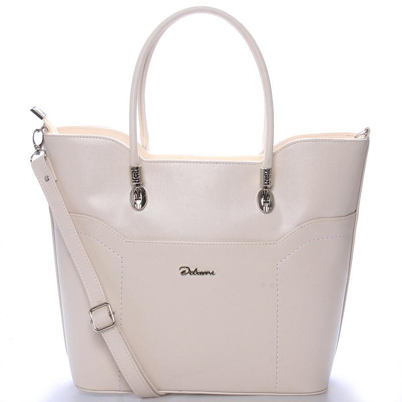 Dámská luxusní kabelka přes rameno béžová - Delami Amalia