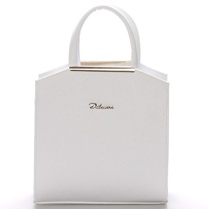 Dámská společenská kabelka bílá - Delami Nathalie