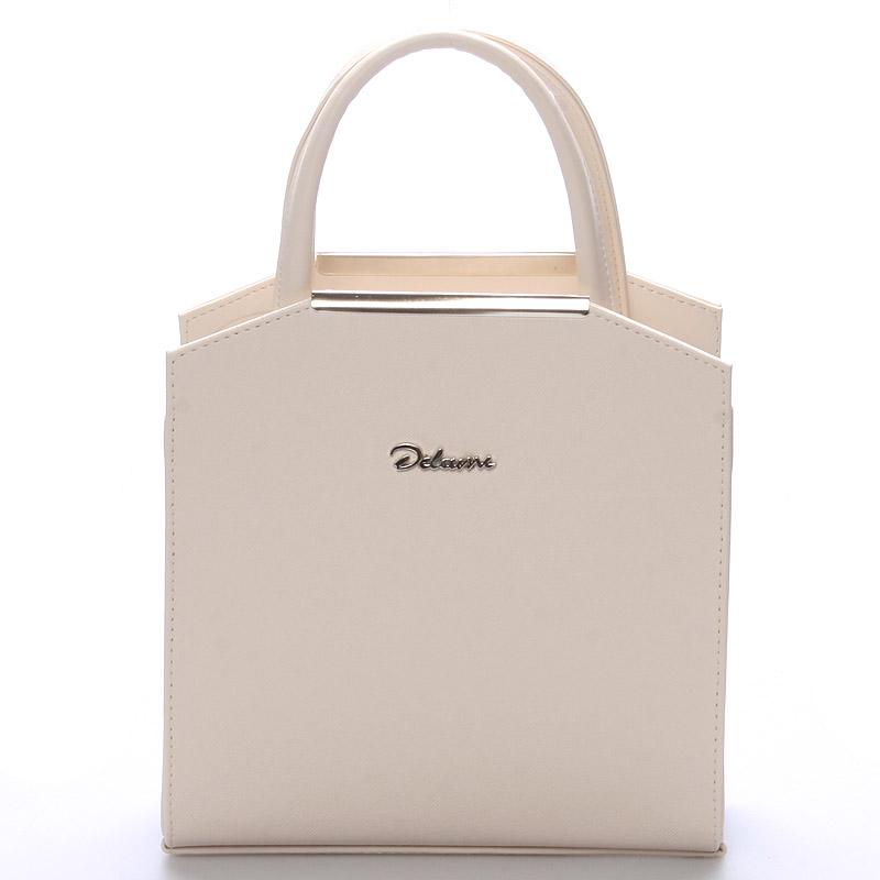 Dámská společenská kabelka béžová - Delami Nathalie