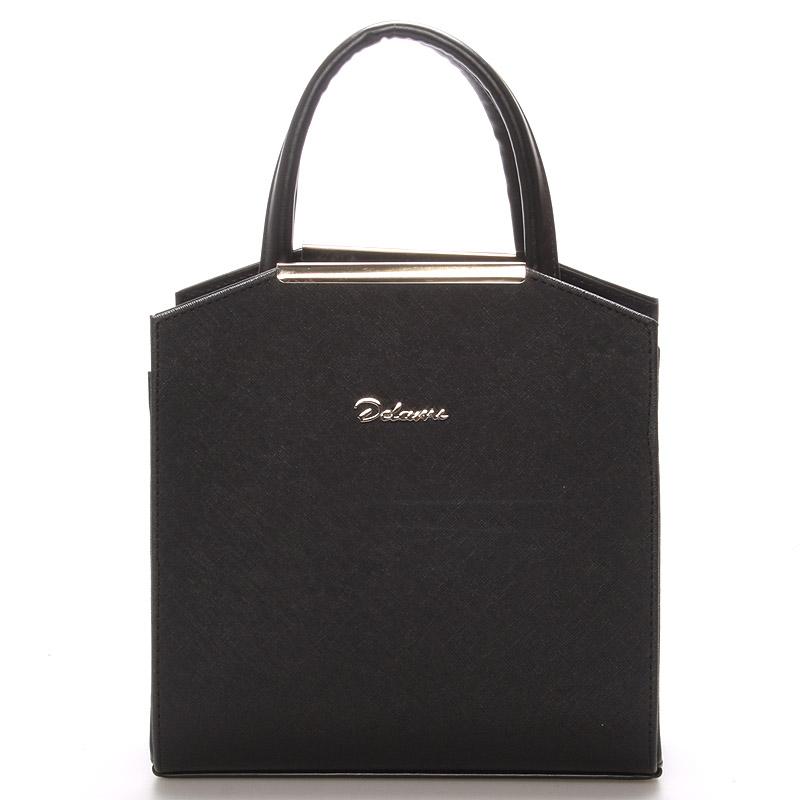 Dámská společenská kabelka černá matná - Delami Nathalie