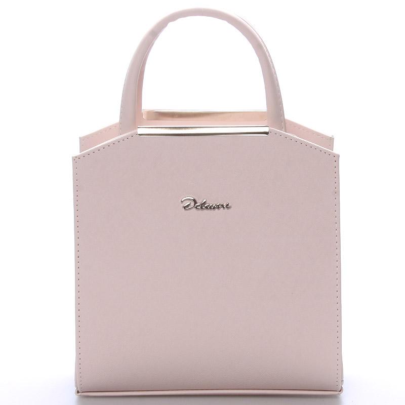 Dámská společenská kabelka růžová - Delami Nathalie