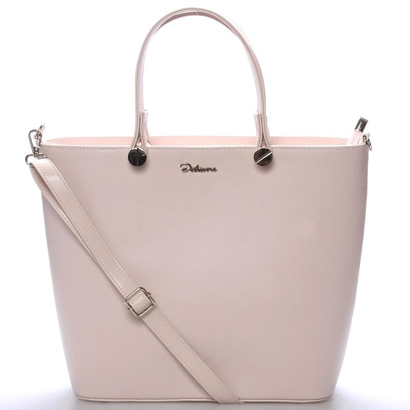 Luxusní růžová dámská kabelka - Delami Chantal