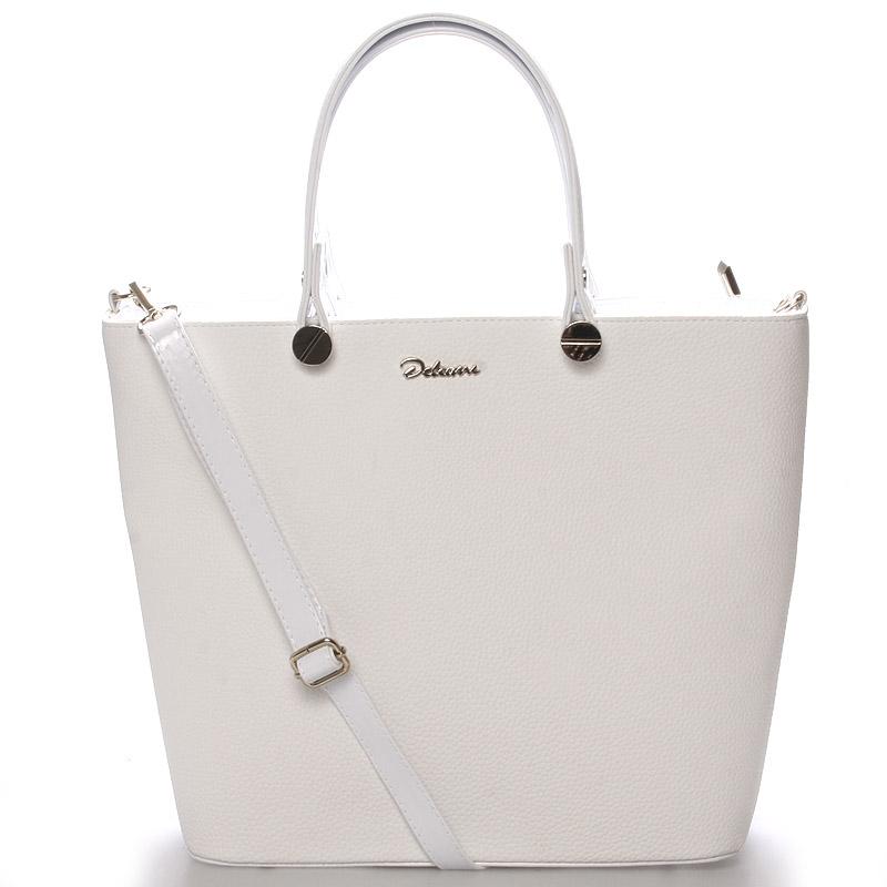 Luxusní dámská kabelka bílá struktura - Delami Chantal