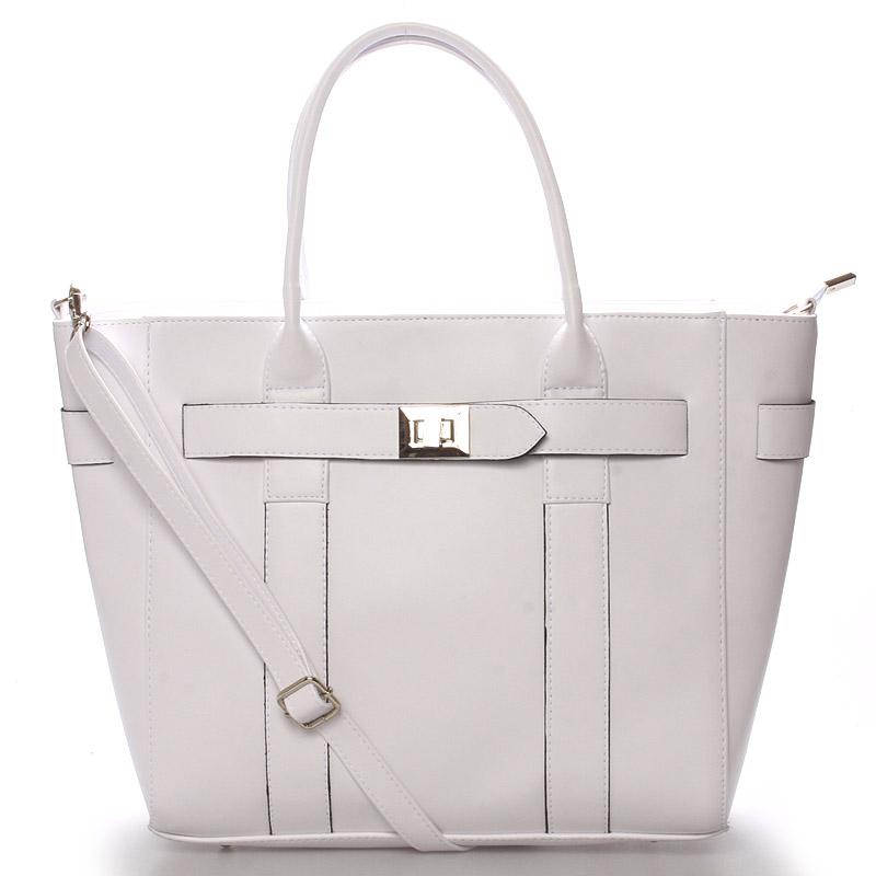 Exkluzivní dámská kabelka do ruky bílá - Delami Olympia