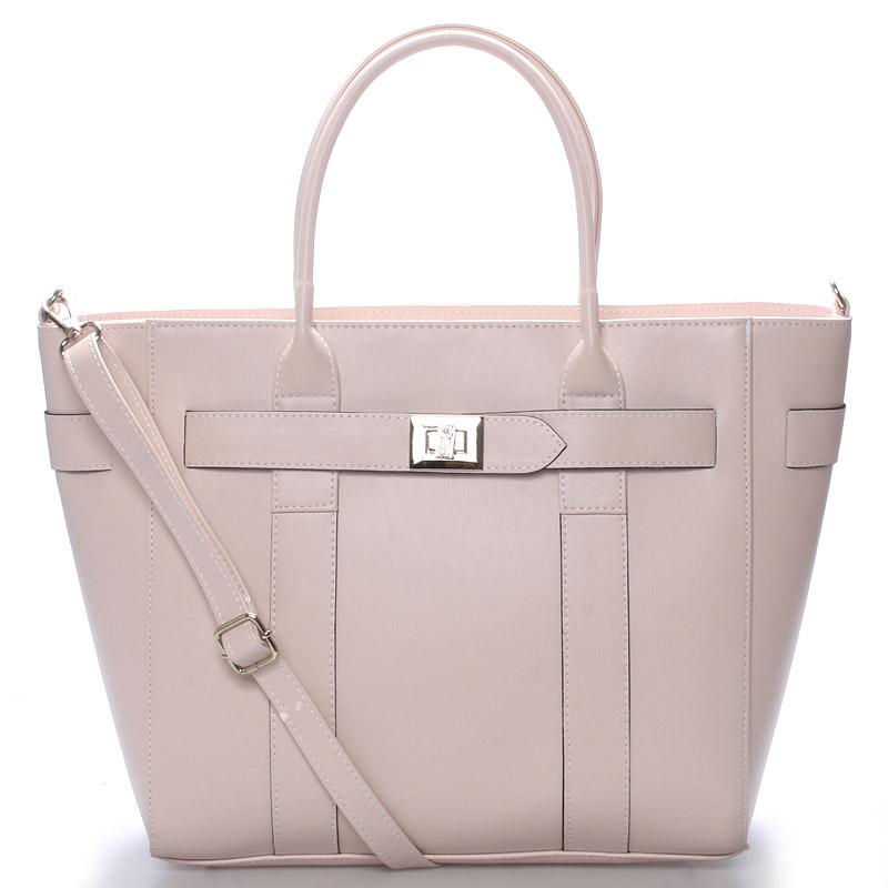 Exkluzivní dámská kabelka do ruky růžová - Delami Olympia