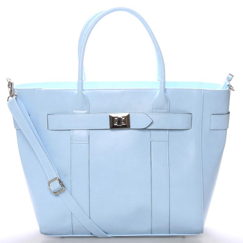 Exkluzivní dámská kabelka do ruky modrá - Delami Olympia