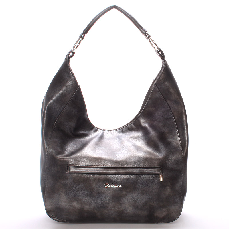 Dámská elegantní kabelka přes rameno grafitová - Delami Anna