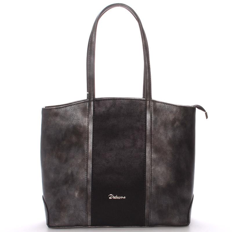 Dámská luxusní kabelka přes rameno grafitová - Delami Yvonne