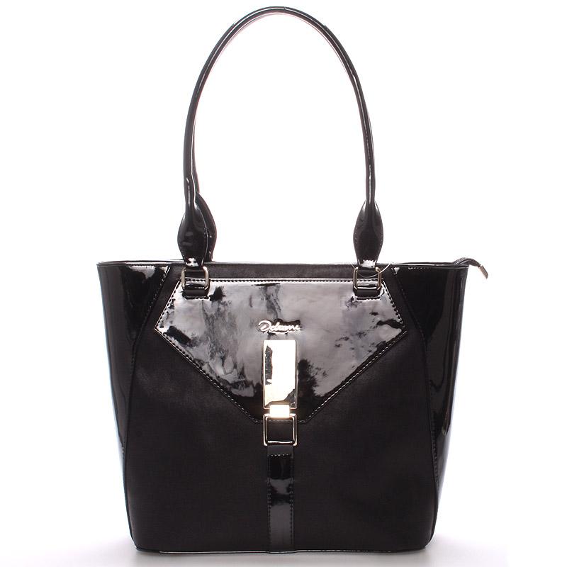 Dámská luxusní kabelka přes rameno černá - Delami Albina
