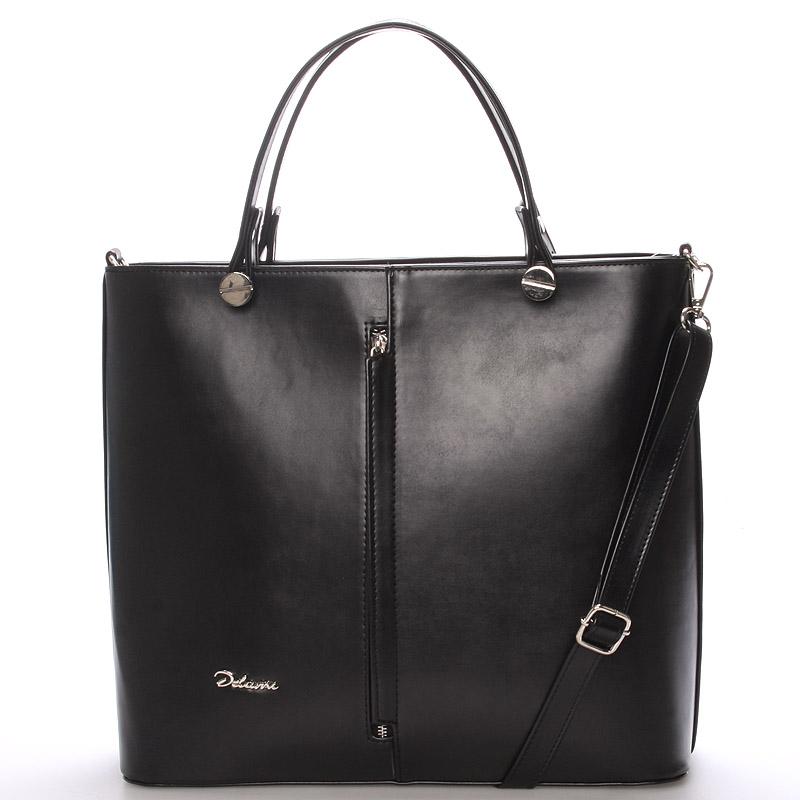 Luxusní černá dámská kabelka - Delami Catherine