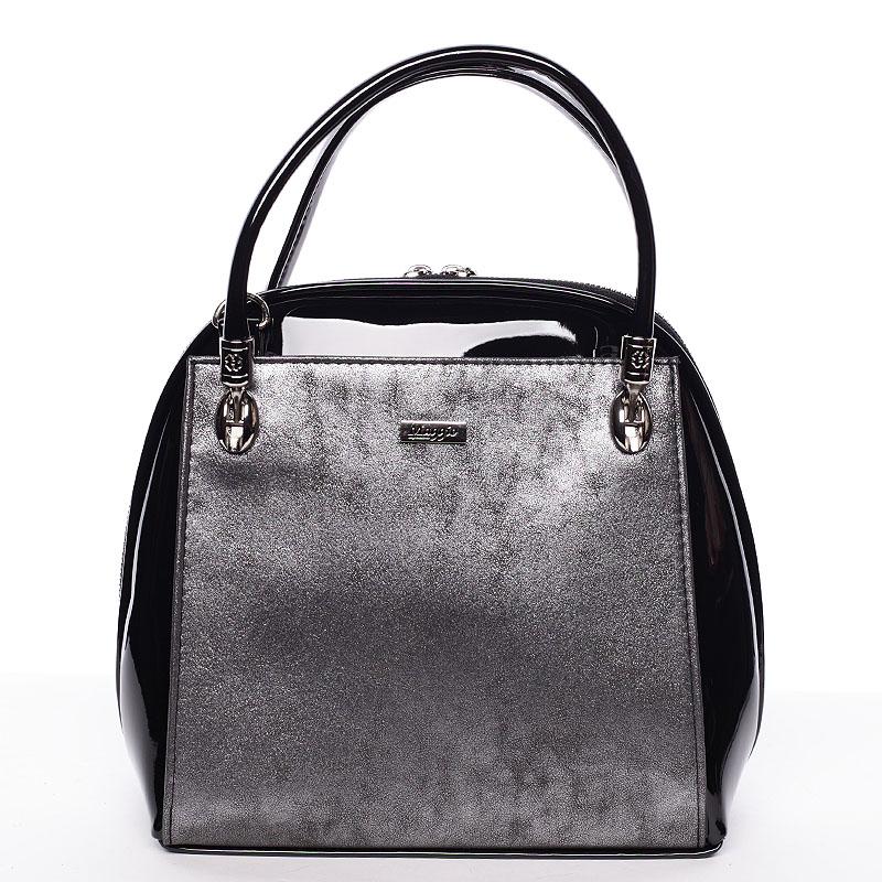 Dámská kabelka černo šedá lakovaná - Maggio Florencia