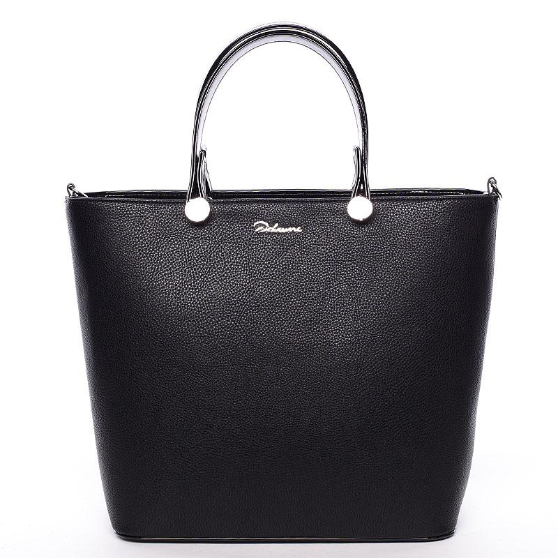 Luxusní černá dámská kabelka - Delami Chantal