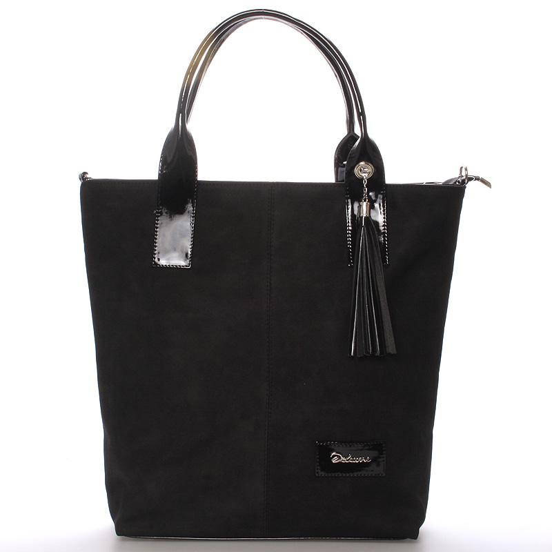 Dámská elegantní kabelka přes rameno černá - Delami Brigitte