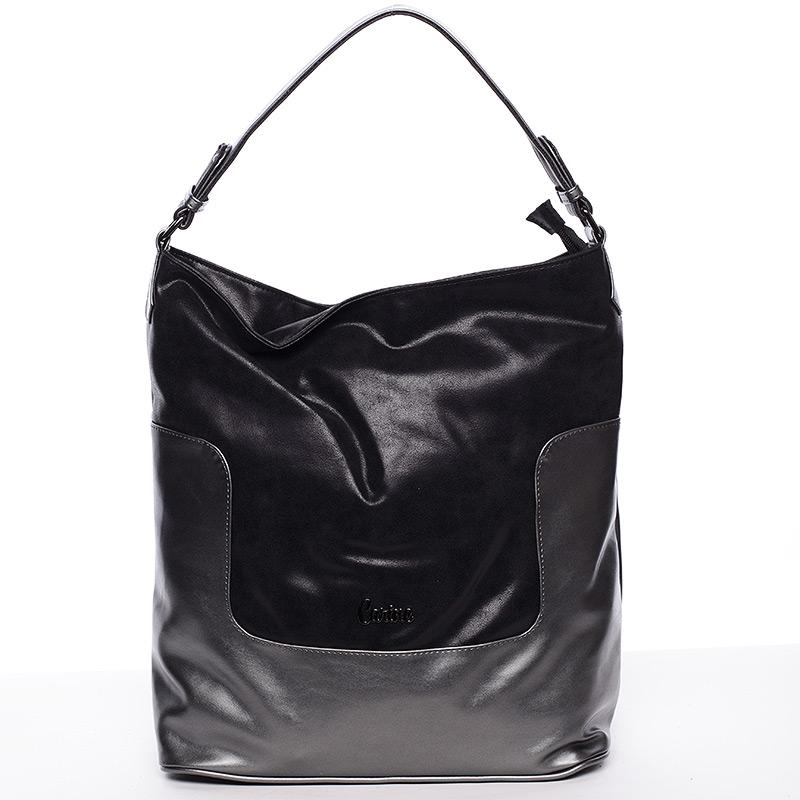 Elegantní velká dámská kabelka černá - Carine Julie
