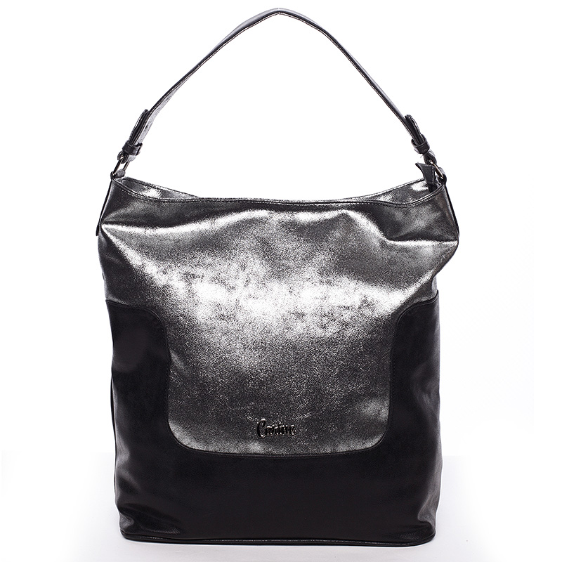 Elegantní velká dámská kabelka stříbrná - Carine Julie