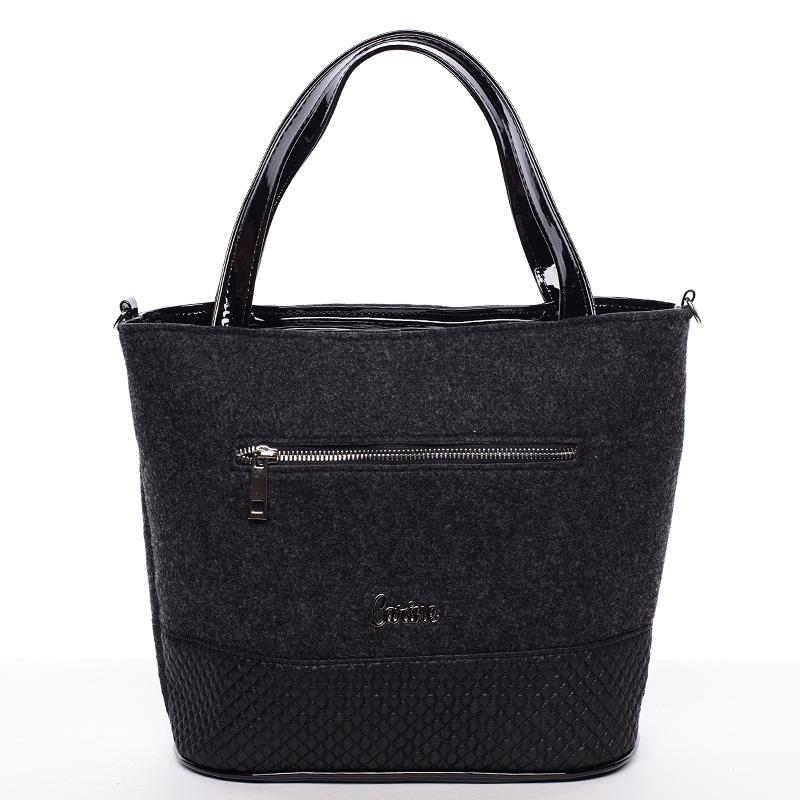 Dámská filcová kabelka černá - Carine Danielle