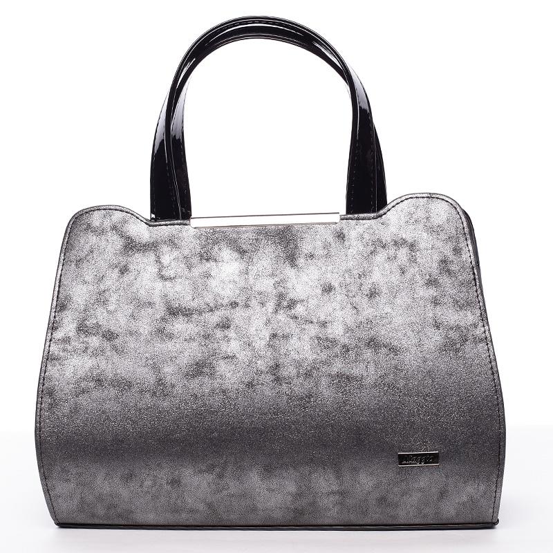 Elegantní kabelka do ruky grafitovo černá - Maggio Helene