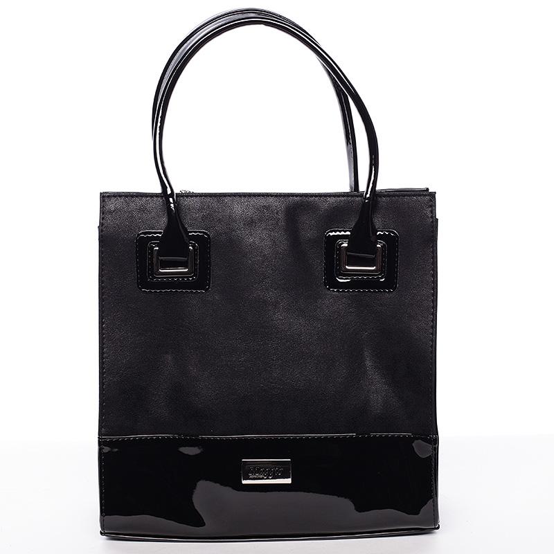 Dámská luxusní lakovaná kabelka černá  - Maggio Claudine
