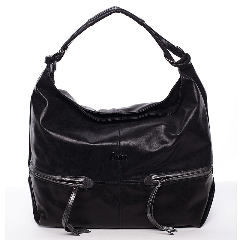 Elegantní velká dámská kabelka černá - Carine Emilie