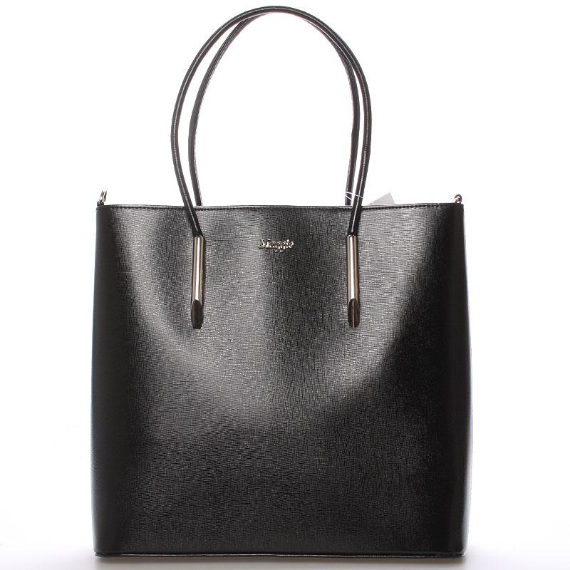 Dámská luxusní kabelka černá saffiano - Maggio Devin