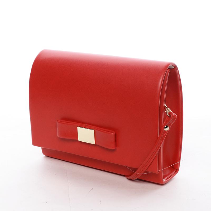 Luxusní dámské psaníčko červené matné - Delami Chicago Fresno
