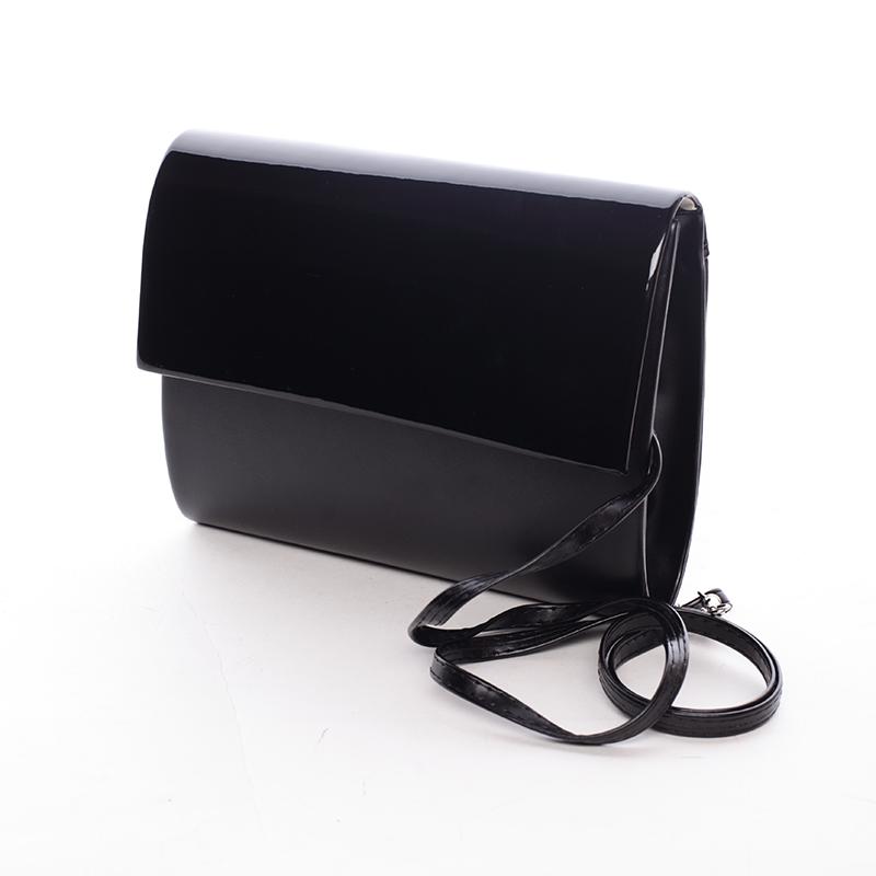 Střední dámské elegantní psaníčko černé matné - Delami SanDiego