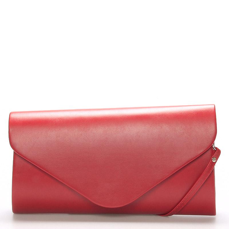 Luxusní velké dámské psaníčko červené matné - Delami LasVegas